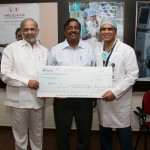 Receiving donation from Sri Venkat Jasti, Suven Pharma